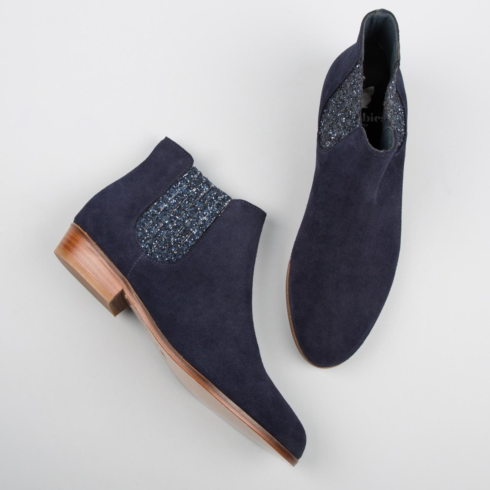 boots femme bleu marine bottines femme pour mode femme. Black Bedroom Furniture Sets. Home Design Ideas