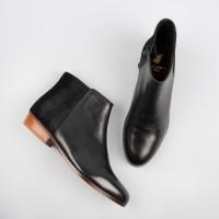 Flat Boots : La Sauvageonne - Black & Chevrons