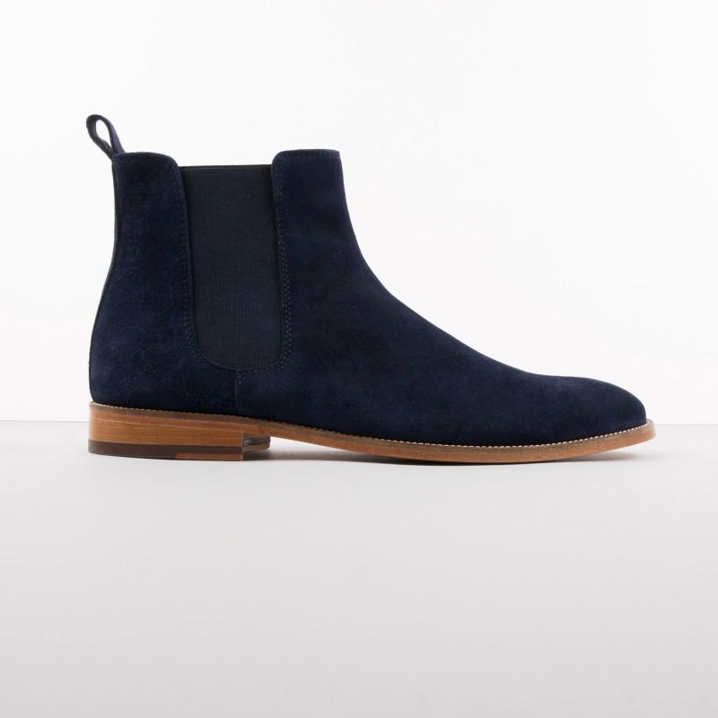 chelsea boots l 39 horloger navy blue. Black Bedroom Furniture Sets. Home Design Ideas