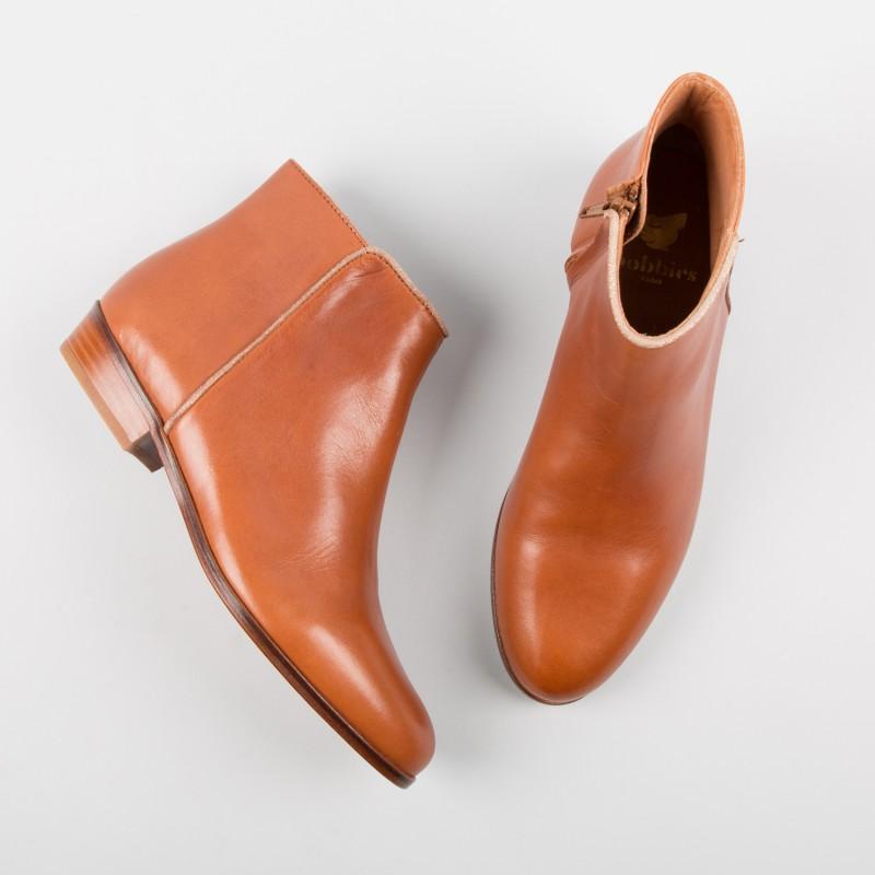 Boots plates : L'Intrepide - Cognac