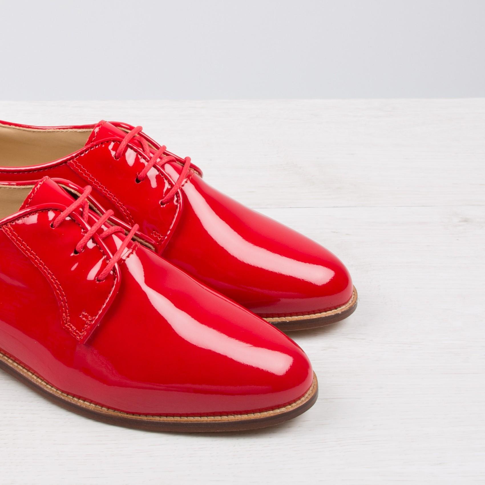 2e1066fd6 derbies femme rouge,Derby rouge fonc茅 verni