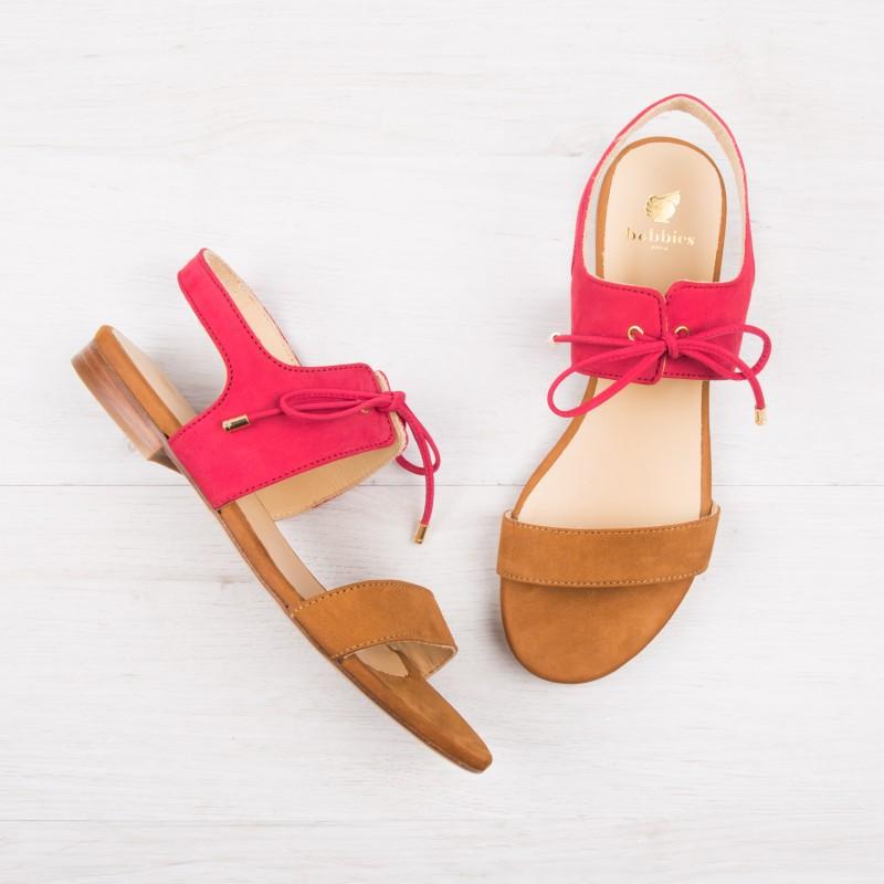Sandales : La Flâneuse - Framboise & Camel