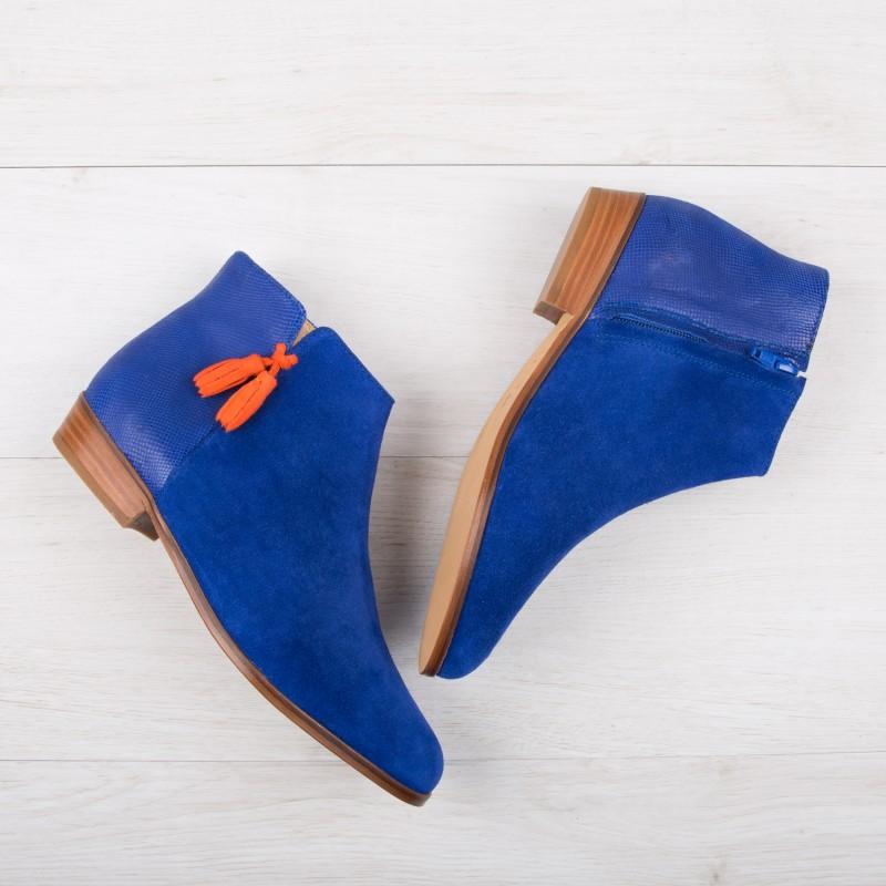 Boots Plates : L'Étourdie - Bleu Saphir