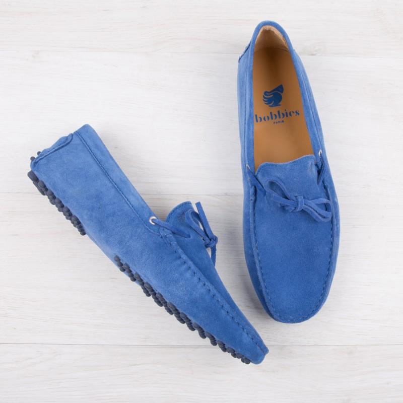 Mocassins : Le Magnifique - Bleu Amparo