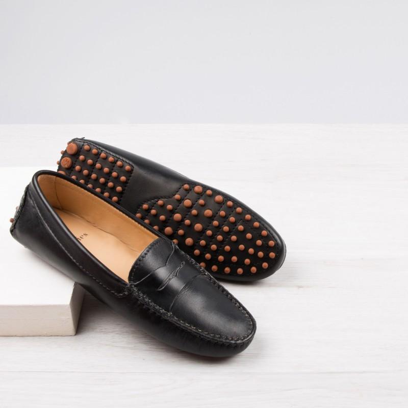 Driving Loafers : La Parisienne - Ebony Black