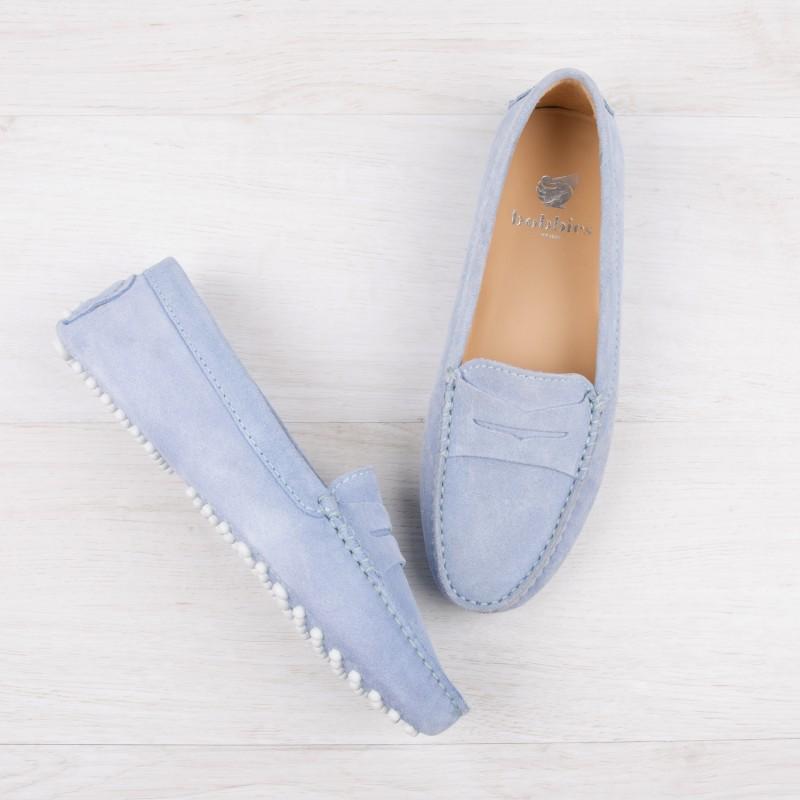 Driving Loafers : La Parisienne - Azure Blue