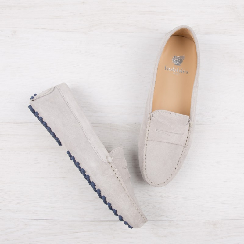 Driving Loafers : La Parisienne - Pearl Grey