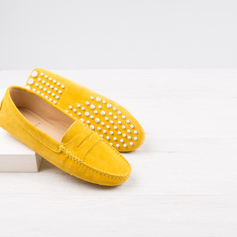 Driving Loafers : La Parisienne - Pepper Yellow