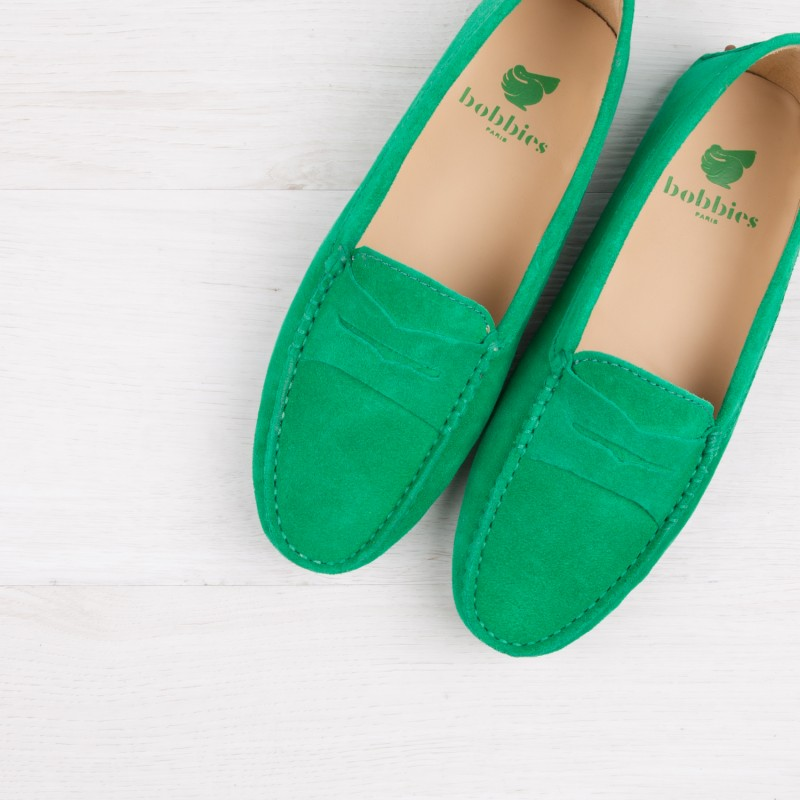 Driving Loafers : La Parisienne - Tango Green