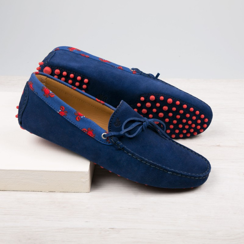 Driving Loafers : Le Pirate - Bleu Nuit