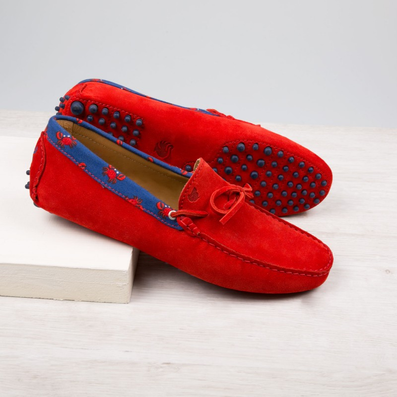 Driving Loafers : Le Pirate - Orange Bobbies
