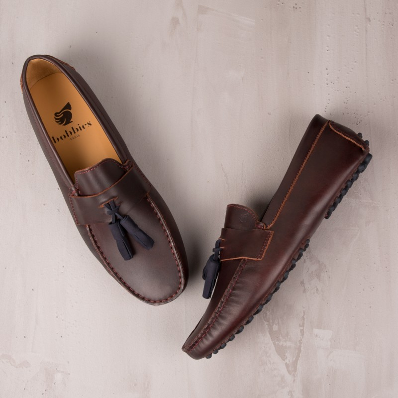 Driving Loafers : Le Dandy - Burgundy