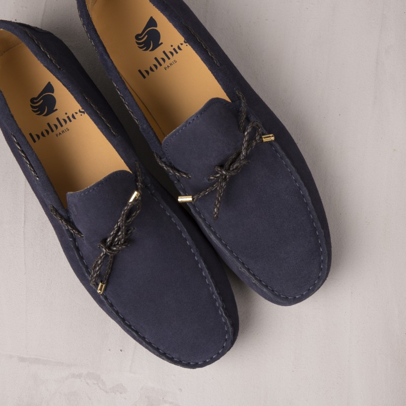 Driving Loafers : L'Orfèvre - Navy Blue