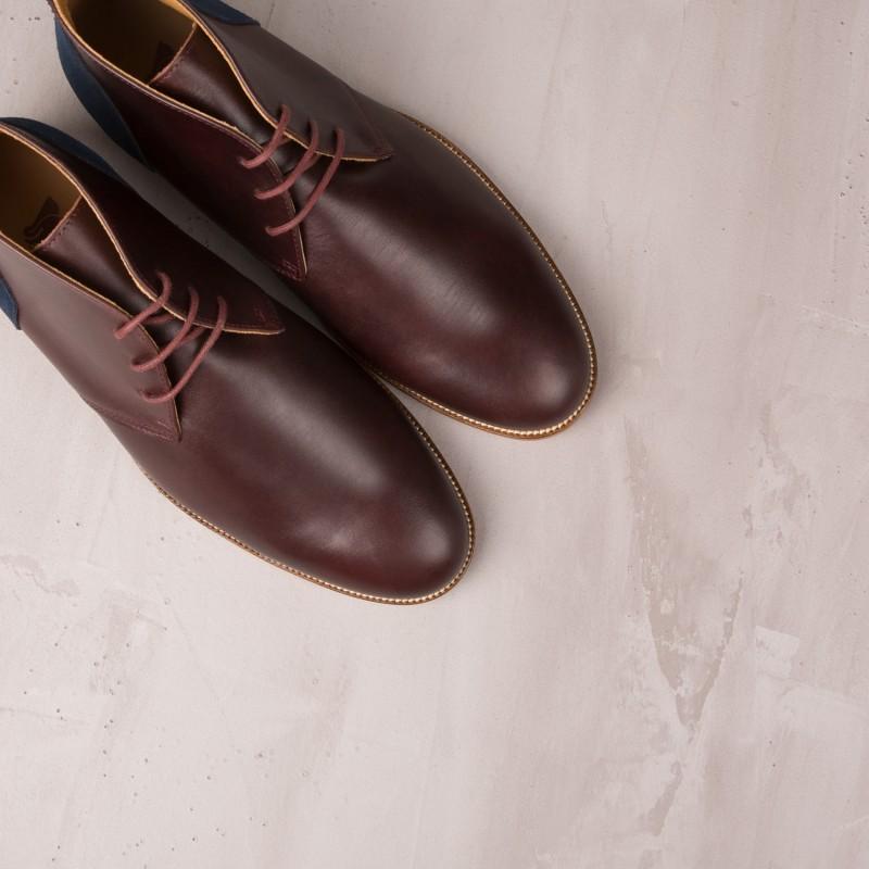 Boots & Bottines : L'Architecte - Burgundy
