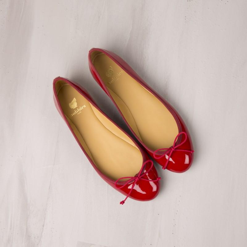 Ballet Flats : L'Avion De Chasse - Cherry Red