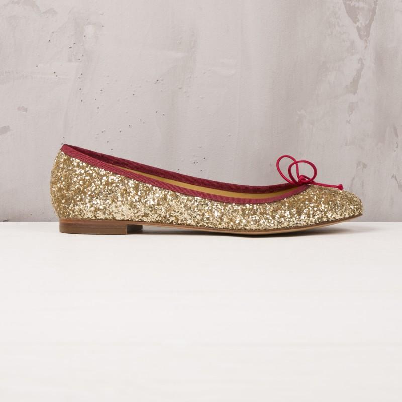 Ballet Flats : La Comédienne - Glittering Gold