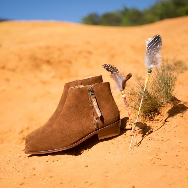 Boots Plates : La Groupie - Brun Camel