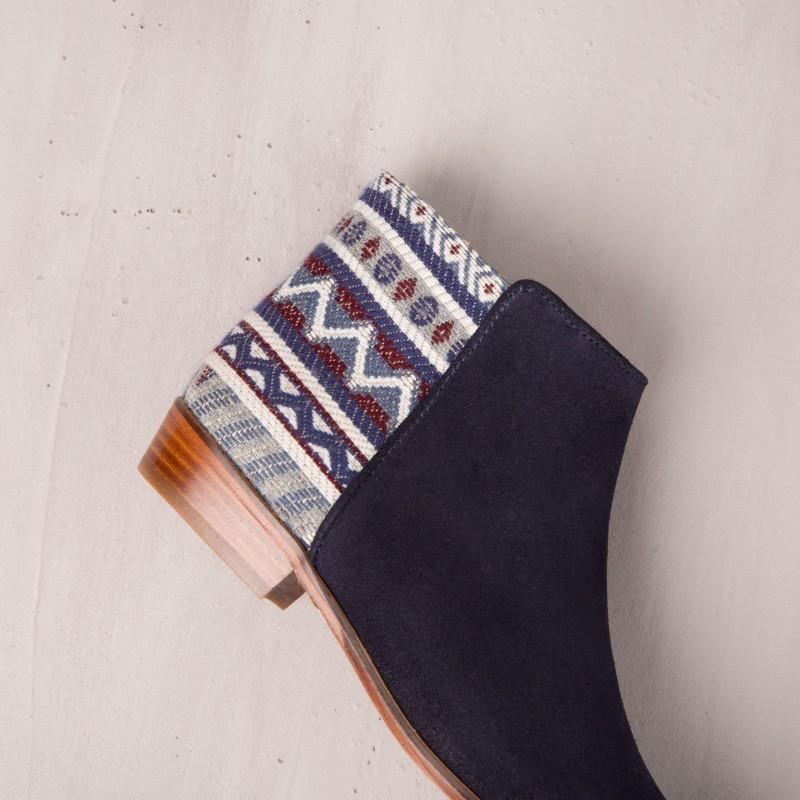 Boots Plates : L'Indienne - Bleu Marine
