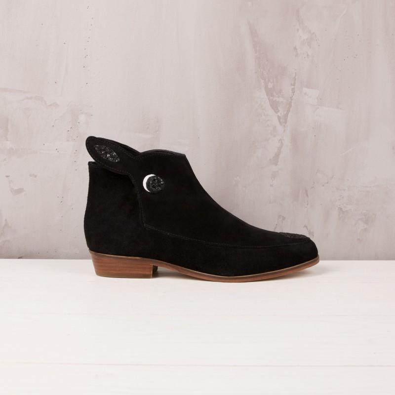 Boots Plates : La Petite Biche - Noir