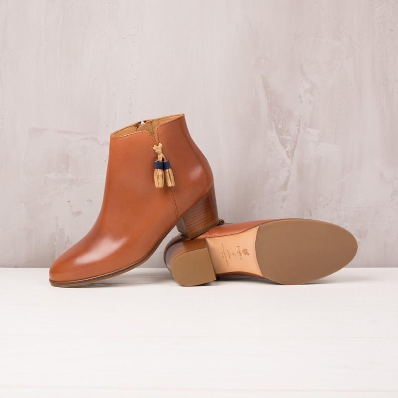 Boots À Talons : L'Insouciante - Cognac