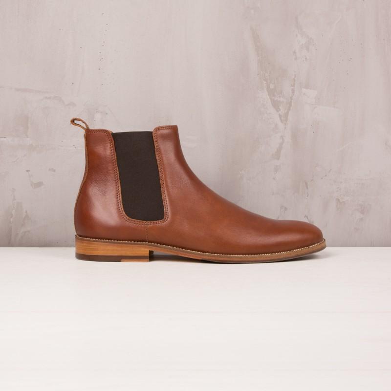 Chelsea Boots : L'Horloger - Cognac