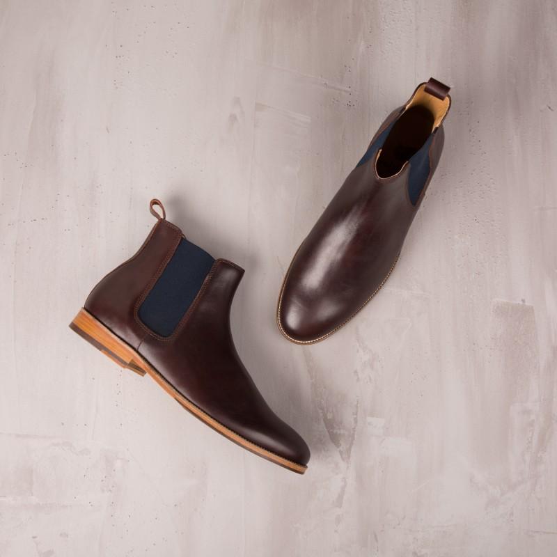 Boots À Élastique : L'Horloger - Burgundy