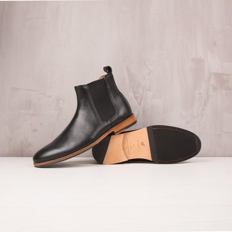 Boots À Élastique : L'Horloger - Noir Ébène