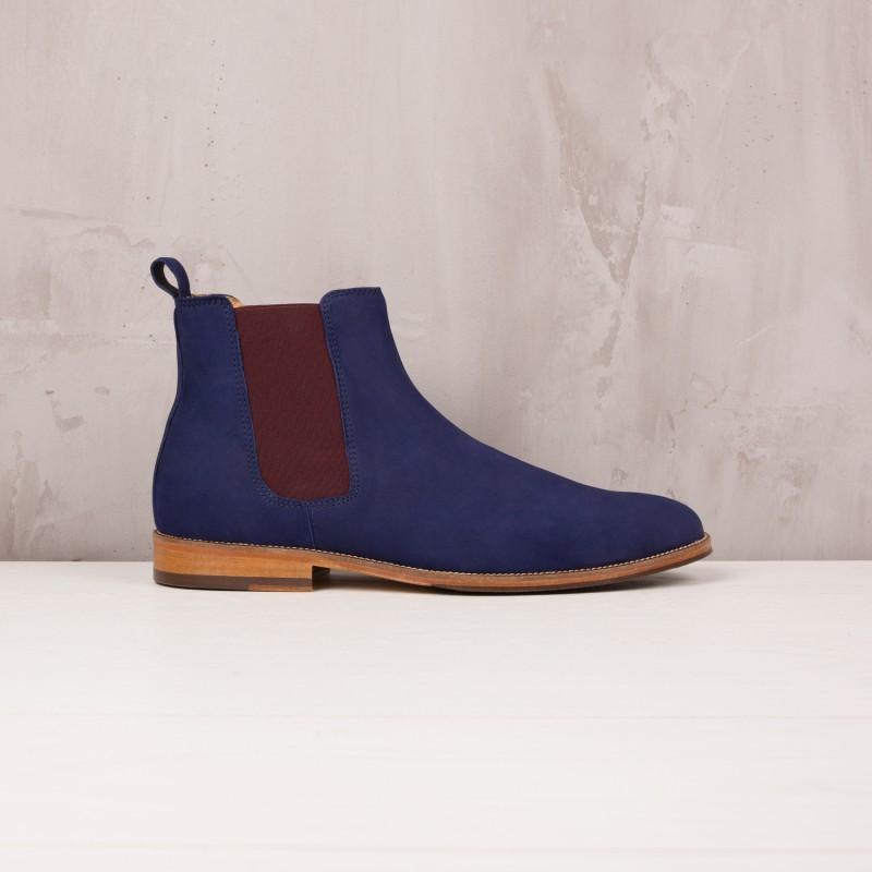 Boots À Élastique : L'Horloger - Bleu Cobalt