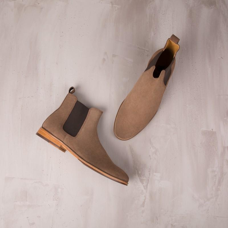 Boots À Élastique : L'Horloger - Brun Café