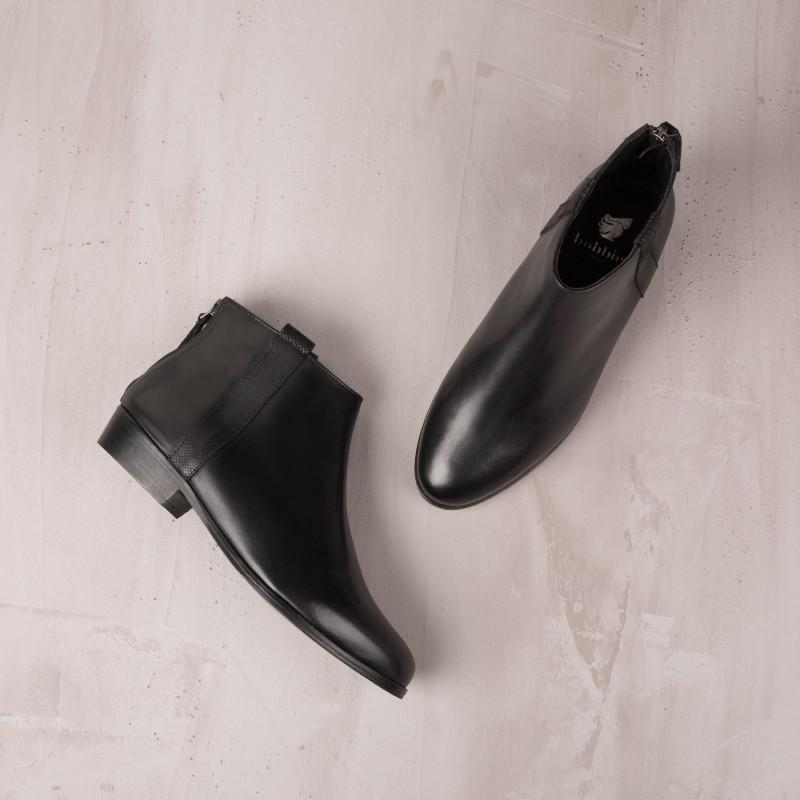 Boots Plates : L'Empressée - Noir Ébène