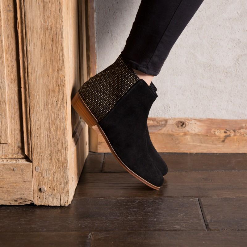 Boots Plates : La Fascinée - Noir