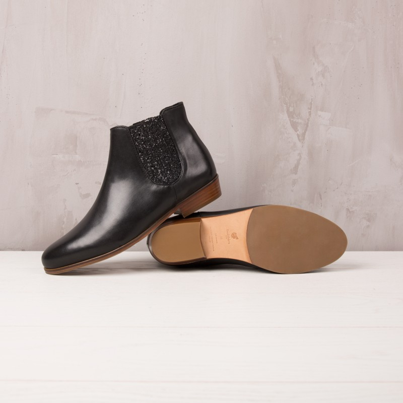 Boots Plates : La Féerique - Noir Ébène
