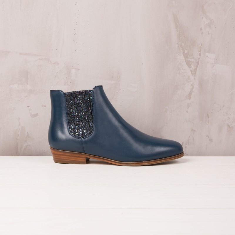 Boots Plates : La Féerique - Bleu D'Orage