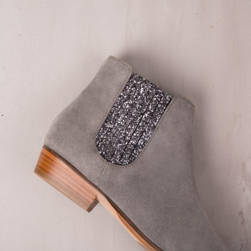 Boots Plates : La Féerique - Gris Plume
