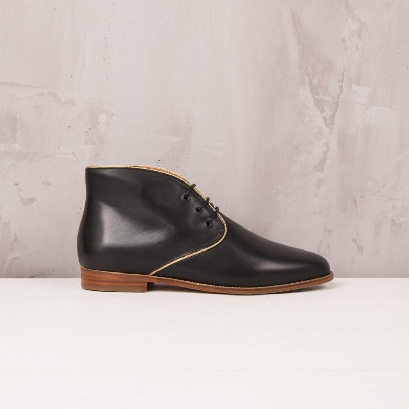 Boots Plates : L'Impatiente - Noir Ébène