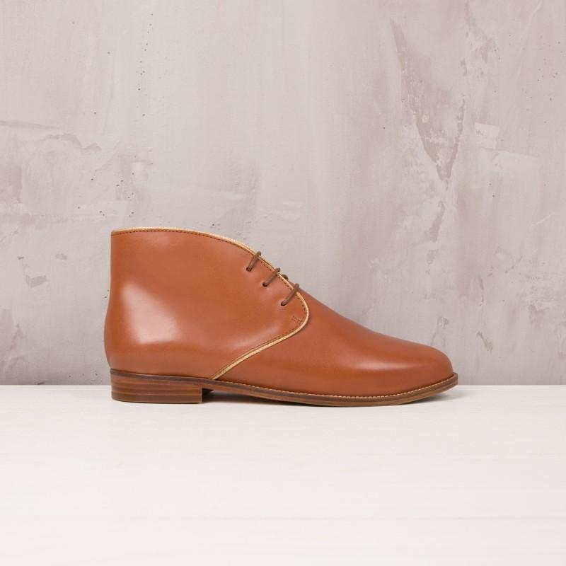 Boots Plates : L'Impatiente - Cognac