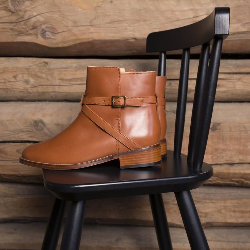 Boots Plates : L'Invincible - Cognac (F)