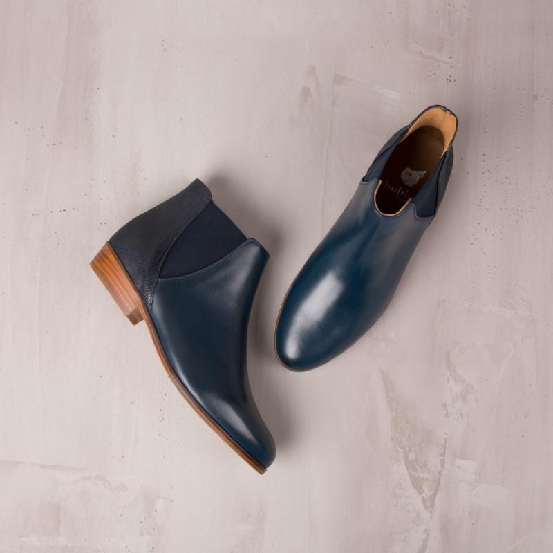 Boots Plates : La Londonienne - Bleu D'Orage