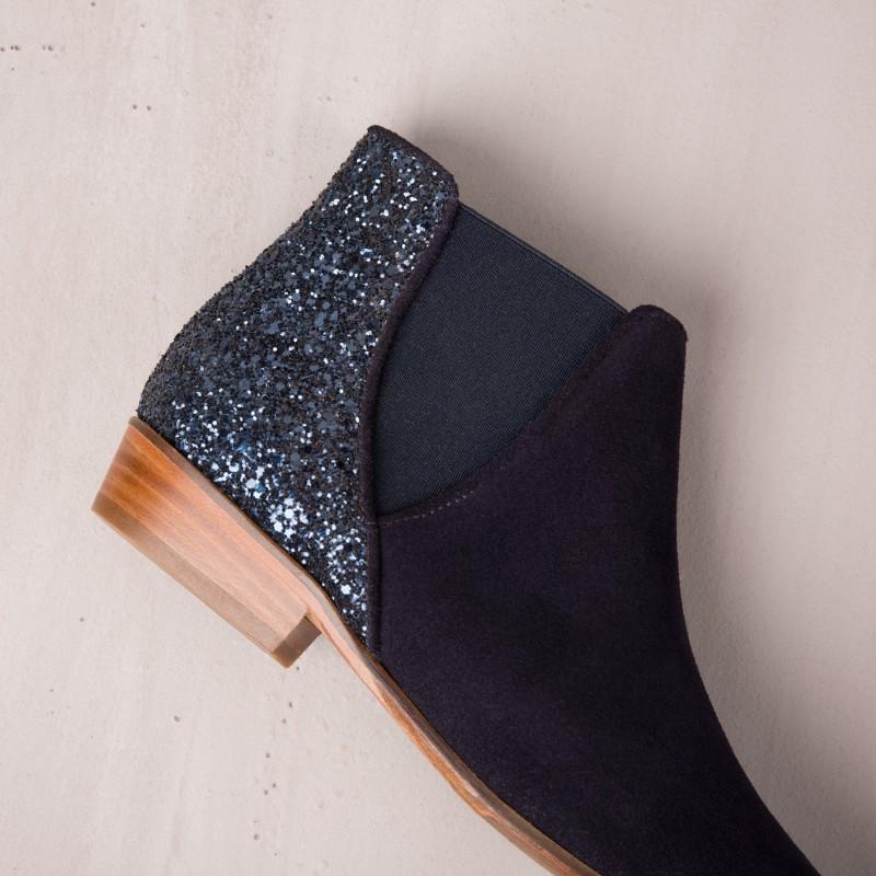 Boots Plates : La Londonienne - Bleu Marine