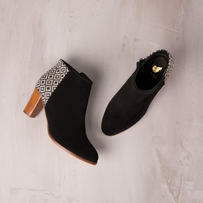 Boots À Talons : La Tourmentée - Noir