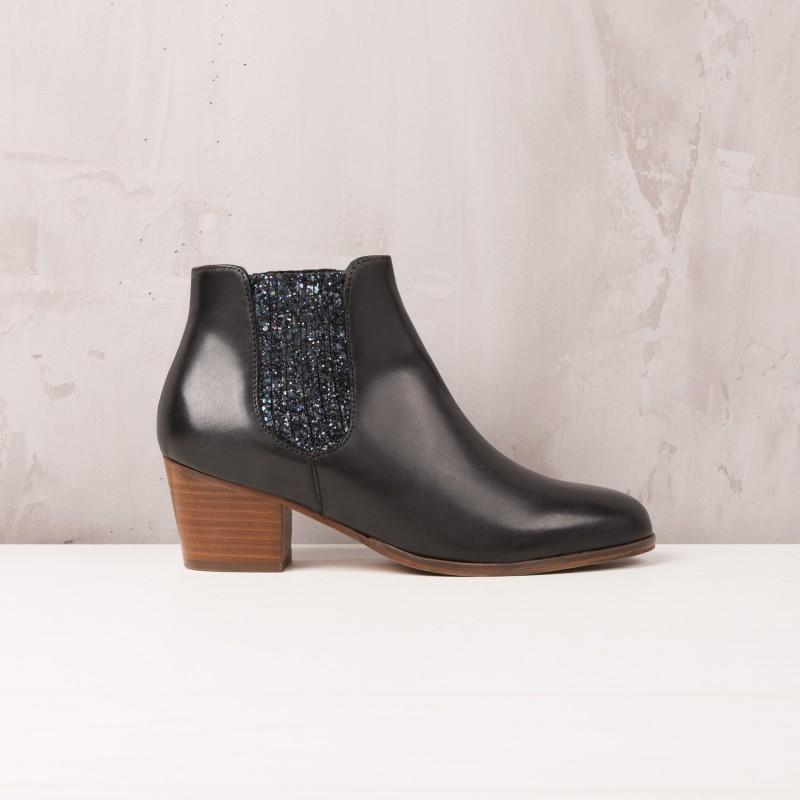 Boots À Talons : La Fabuleuse - Noir Ébène