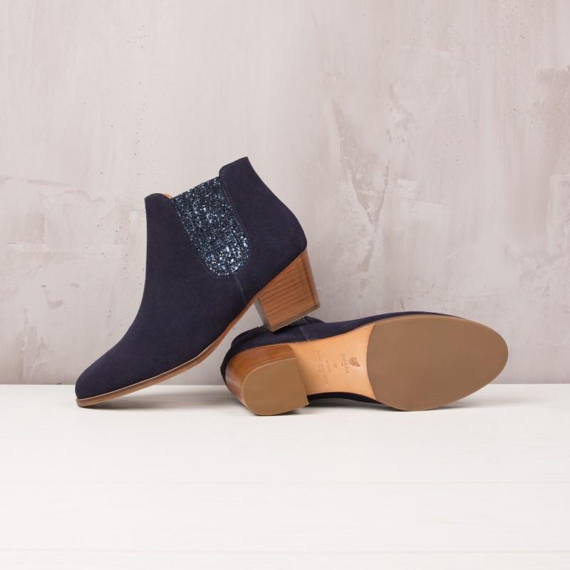 Boots À Talons : La Fabuleuse - Bleu Marine