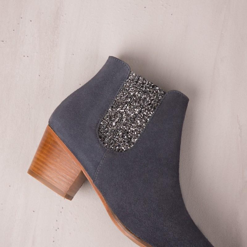 Boots À Talons : La Fabuleuse - Gris Anthracite
