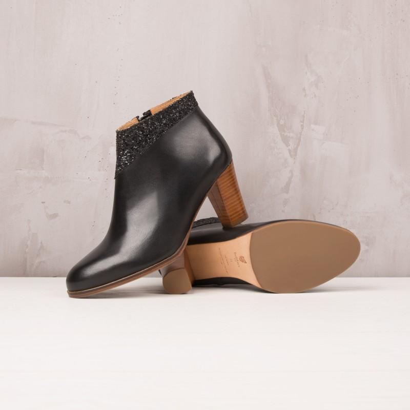 Boots À Talons : La Fuselée - Noir Ébène