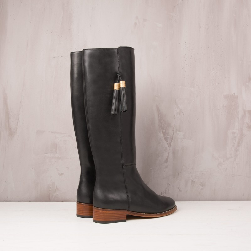 Knee Boots : La Dompteuse - Ebony Black