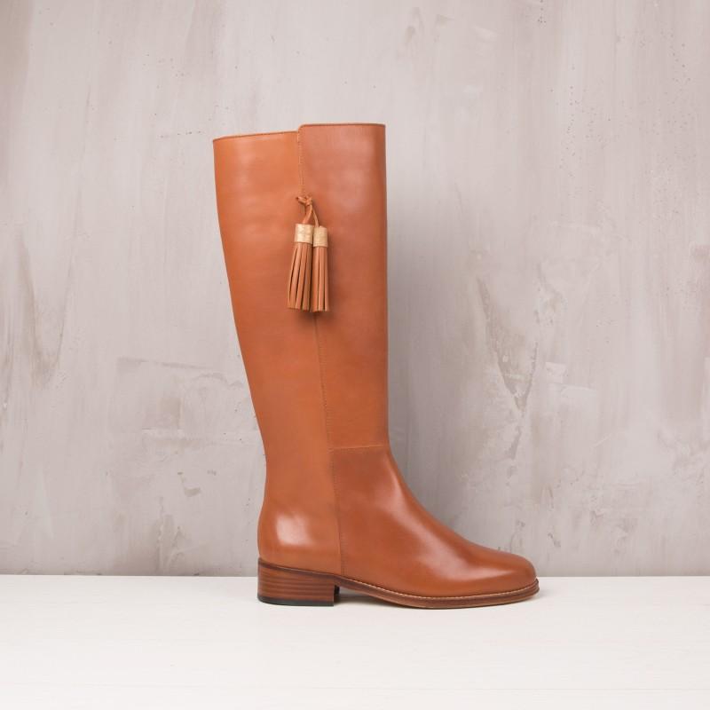 Knee Boots : La Dompteuse - Cognac