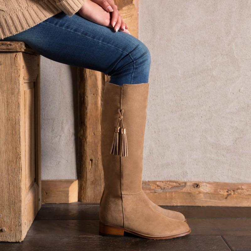 Knee Boots : La Dompteuse - Antelope