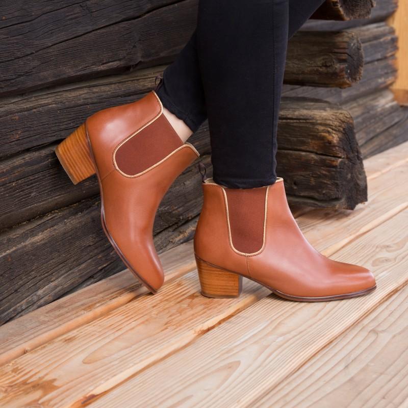 Boots À Talons : L'Évadée - Cognac