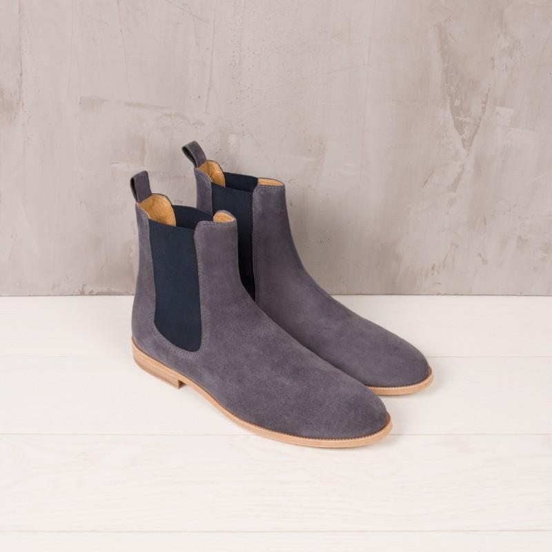 Chelsea Boots : Le Romanesque - Gris Antracita