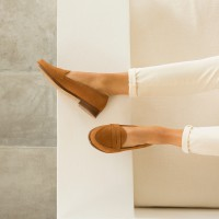 Driving Loafers : La Fille À Papa - Camel